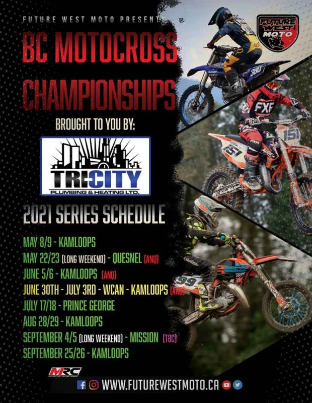 2021 FUTURE WEST MOTOCROSS RACE SERIES SCHEDULE
